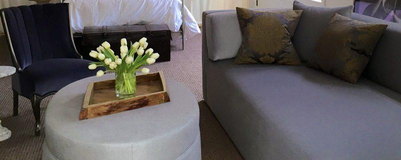 Hotel Room Sofa Ottoman