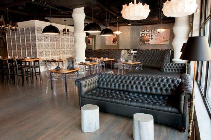 Restaurant Upholstered Sofa