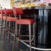Bar with Custom Upholstered Furniture